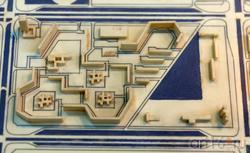 Фрагшмент макета (район первочередного стороительства в Н. Челнах, 1971-1975 гг.)