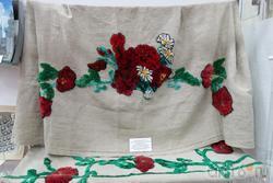 Дар музею Афансьевой А.Б. (домотканный занавески с вышивкой набивной гладью, Украина, Винницкая область)