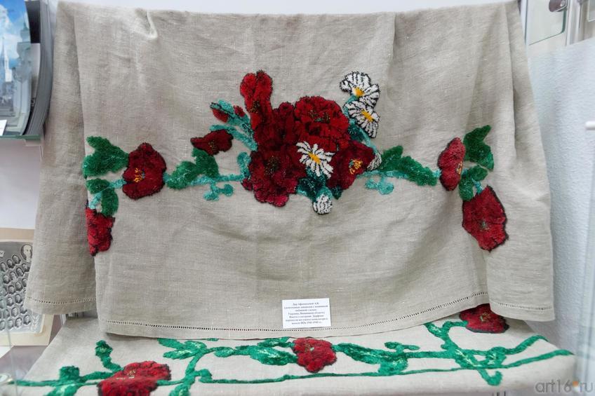 Фото №883234. Дар музею Афансьевой А.Б. (домотканный занавески с вышивкой набивной гладью, Украина, Винницкая область)