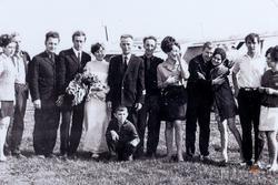Фото: Первая свадьба на КАМАЗе. Оперативный отдел, 25 мая 1975