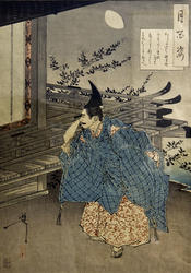 Свидание с лунным светом. 1885 Цукиока Ёситоси / Тайсо Ёситоси (1839-1892)