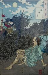 Луна над рекой Хуай и генерал Ву Зиксу. 1885.Цукиока Ёситоси / Тайсо Ёситоси (1839-1892)