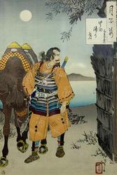 Луна над бухтой Катада. 1888. Цукиока Ёситоси / Тайсо Ёситоси (1839-1892)