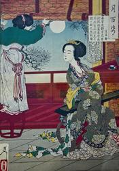 Весна уходит. 1887.  Цукиока Ёситоси / Тайсо Ёситоси (1839-1892)