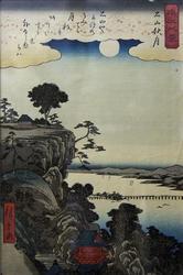 Озеро Бива. 1857. Андо Хиросигэ (1797-1858)