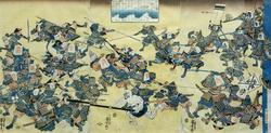 Утагава Куниёси (1798-1861) Лист из серии знаменитых сражений