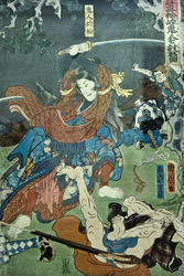 Таёхара Кунитика (1835-1900). Лист из серии знаменитых сражений