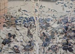 Утагава Куниёси (1798-1861) Сражение у горы Ёсино. 1820 (?)