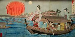 Тоёхара Тиканобу (1838-1912). Лист из серии ''Празднества''