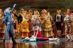 Дон Кихот приказывает Лоренцо выполнить просьбу Китри и благословить их брак с Базилем