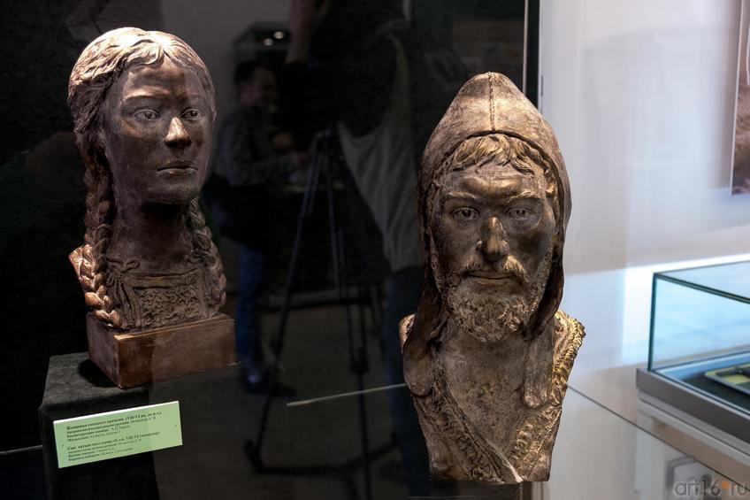 Женщина сакского времени (VII-VI вв. до н.э.)/мужчина сакского времени (VII-VI вв. до н.э.)::Выставка «Кочевники Аркаимских степей»