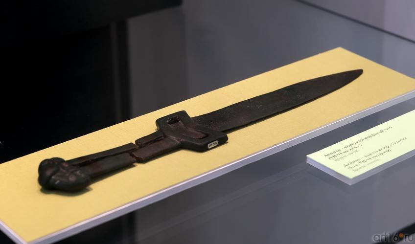 Акинак — короткий скифский меч (VII-VI вв. до н.э.)::Выставка «Кочевники Аркаимских степей»
