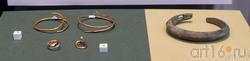 Височные кольца (IV-II вв. до н.э.) /серьги (IV-III вв. до н.э.) /браслет (V-IV вв.до н.э.)