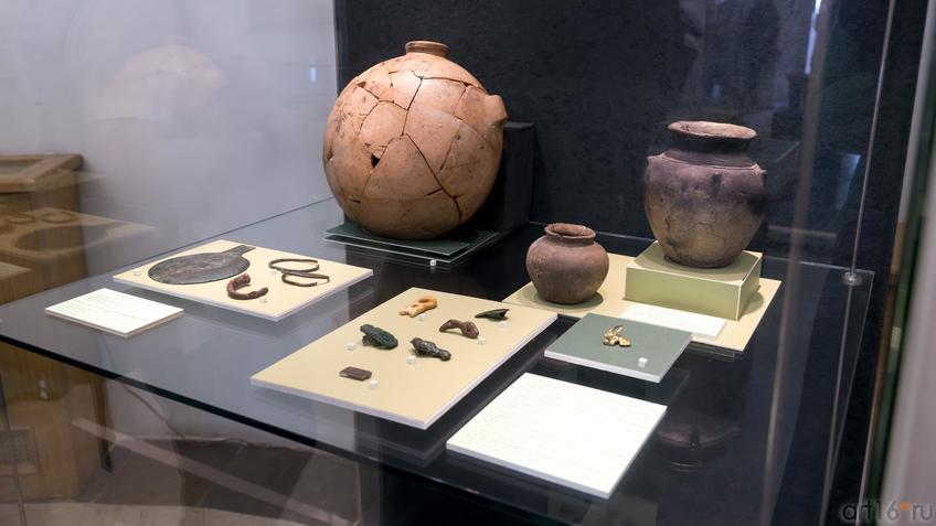 Комплект предметов из кургана Темир (IV в. до н.э.) /предметы быта и украшения::Выставка «Кочевники Аркаимских степей»