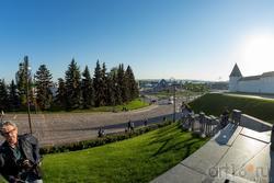 Вид на Волгу с площади 1 мая (Казань)
