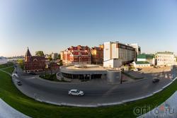 Вид с кремлевской стены на улицу Батурина