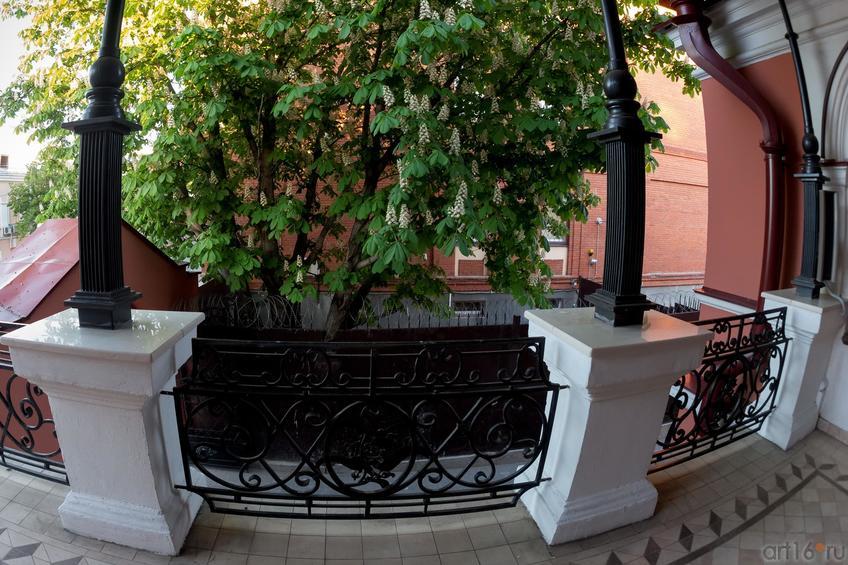 Терасса, расположенная на 2-ом этаже Дома Банарцева (фрагмент ограждения)::19.05.2016 Экскурсия ASG