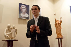А.Леонов на открытии выставки ''Молитва в скульптуре!
