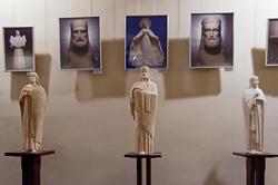 Фрагмент экспозиции выставки А.Леонова ''Скульптура в молитве''
