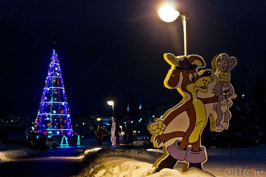 Фото №88854. Новогодний городок в парке ''Черное озеро'', Казань, 16.12.2011