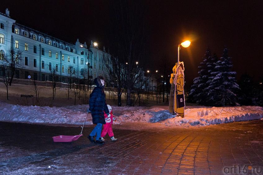 Фото №88874. С санками на горку. Зимние прогулки по парку ''Черное озеро''