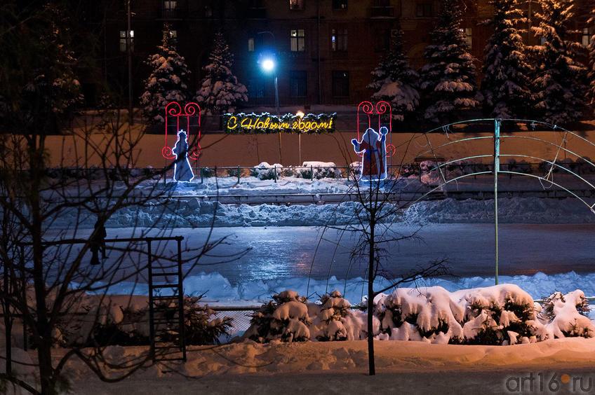Фото №88879. Малый каток парка ''Черное озеро'', Казань, 16.12.2011