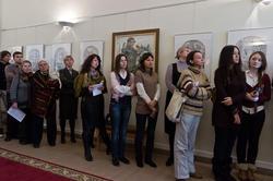 Открытие выставки Б. Гильванова