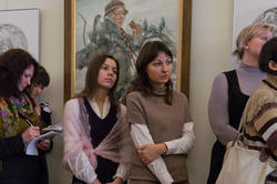 На открытии выставки Булата Гильванова