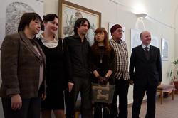 Булат Гильванов. Фото с художником на память об открытии выставки