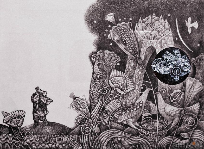 """Разлука. 2009. Булат Гильванов::Булат Гильванов. Выставка """"Эхо веков"""""""