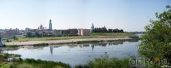 Вид на старый город. Сызрань, исторический центр