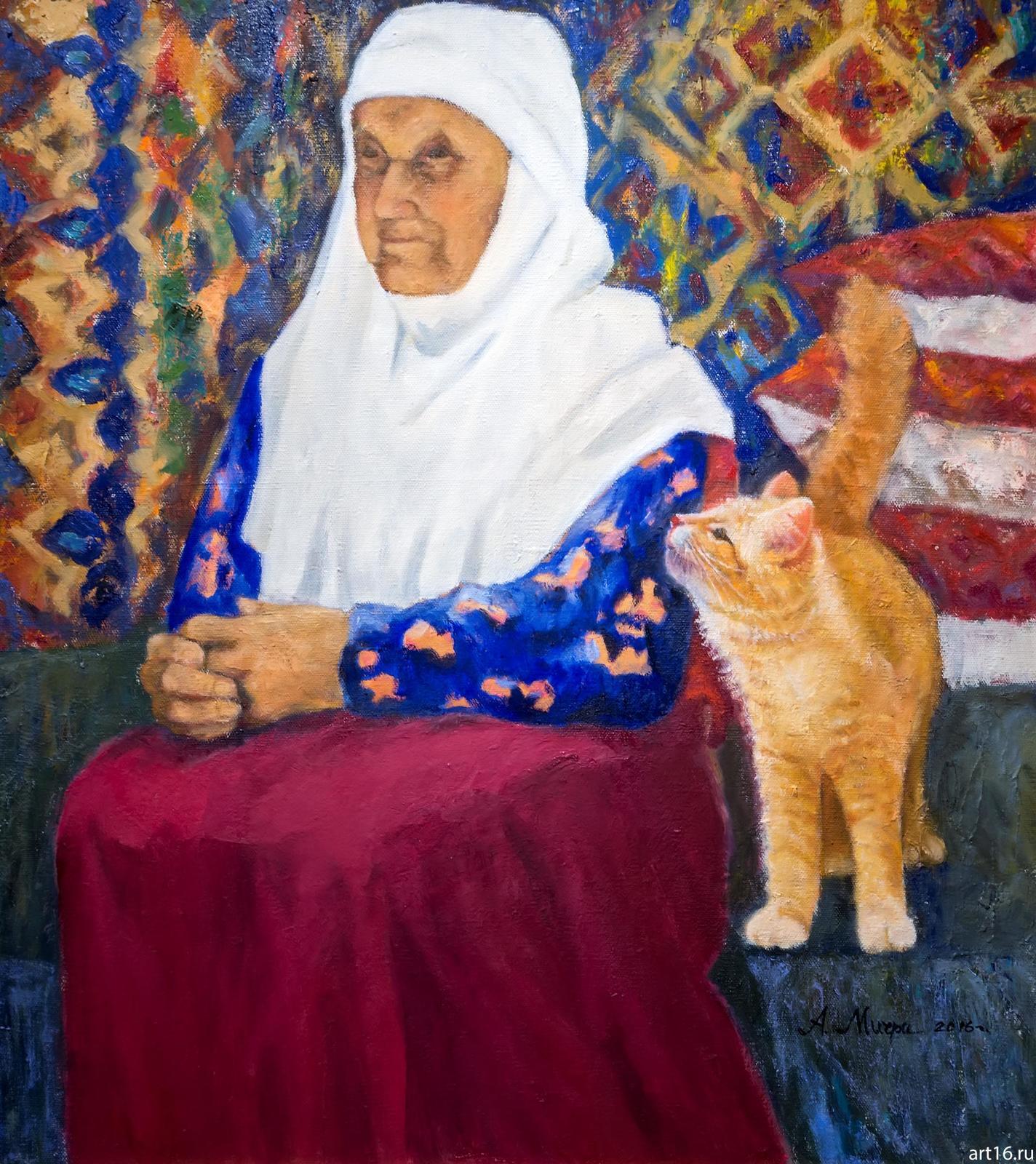 Фото №892950. Бабушка с кошкой. 2016. Мичри А.И. 1934