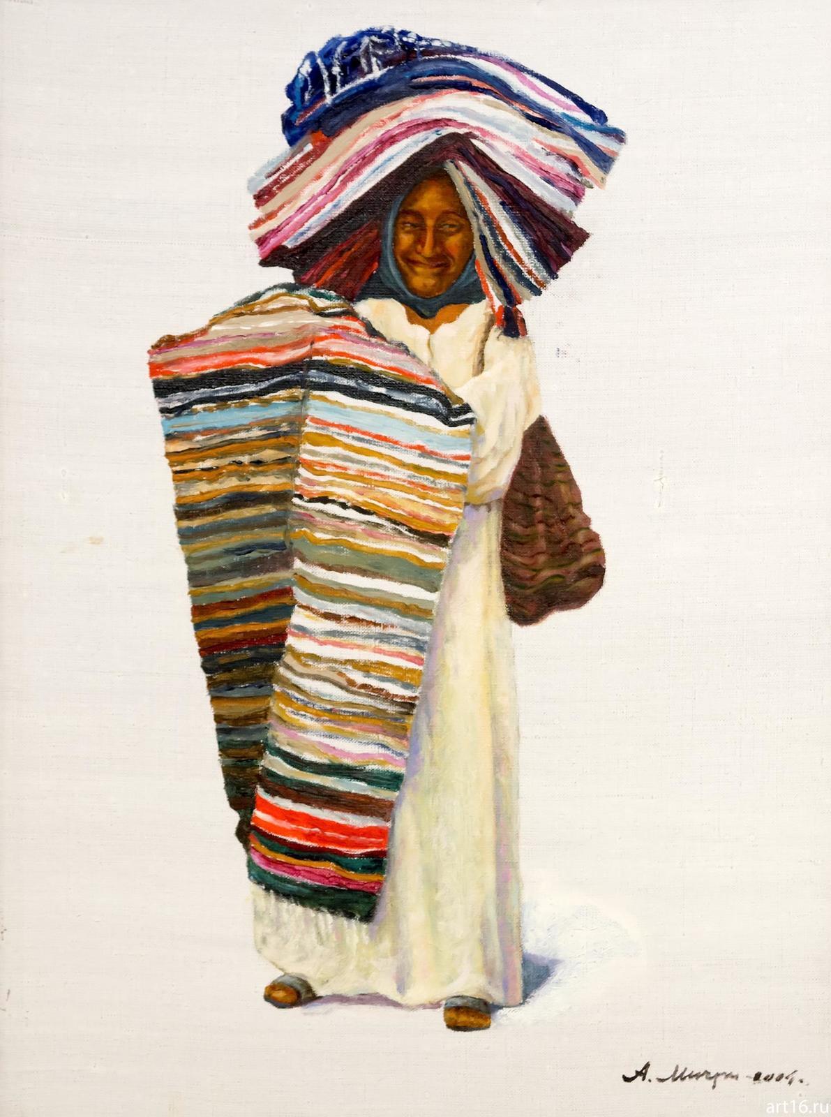 Фото №892962. Египтянка, торгующая коврами. 2004. Мичри А.И. 1934