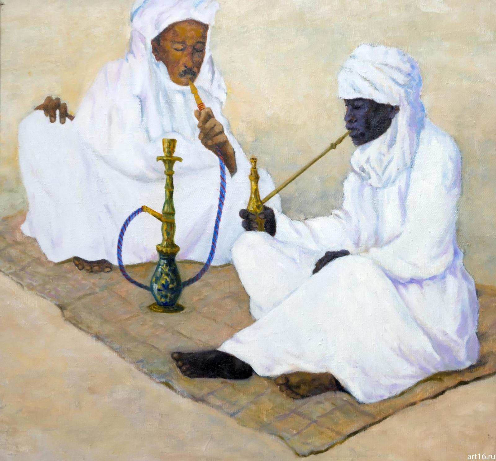 Фото №892966. Египет. Курильщики кальяна. 2011. Мичри А.И. 1934