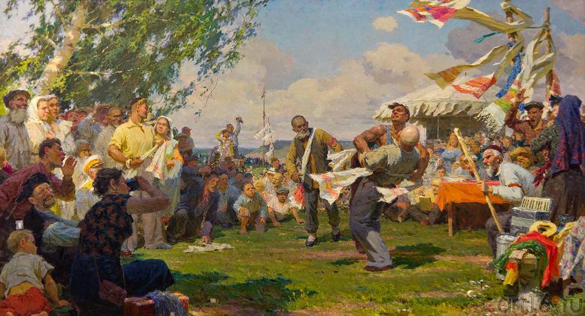 Сабантуй. 1956-57. Фаттахов Л.А. 1918-1981::Союзу художников Республики Татарстан — 75