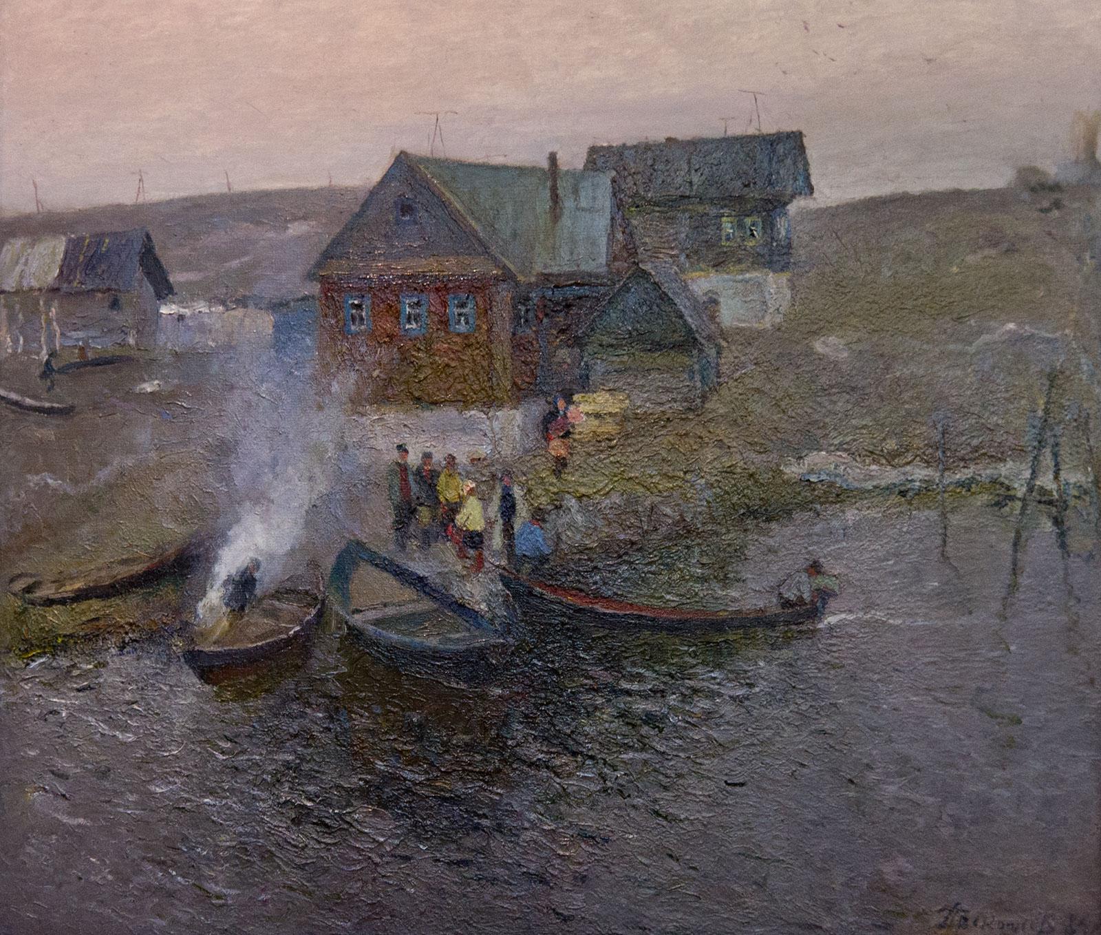 Фото №89326. В рыбацком поселке. 1984. Прокопьев А.Л.1922-1993
