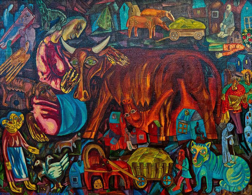 Кормилица. 1992. Салихов Р.А. 1959::Союзу художников Республики Татарстан — 75