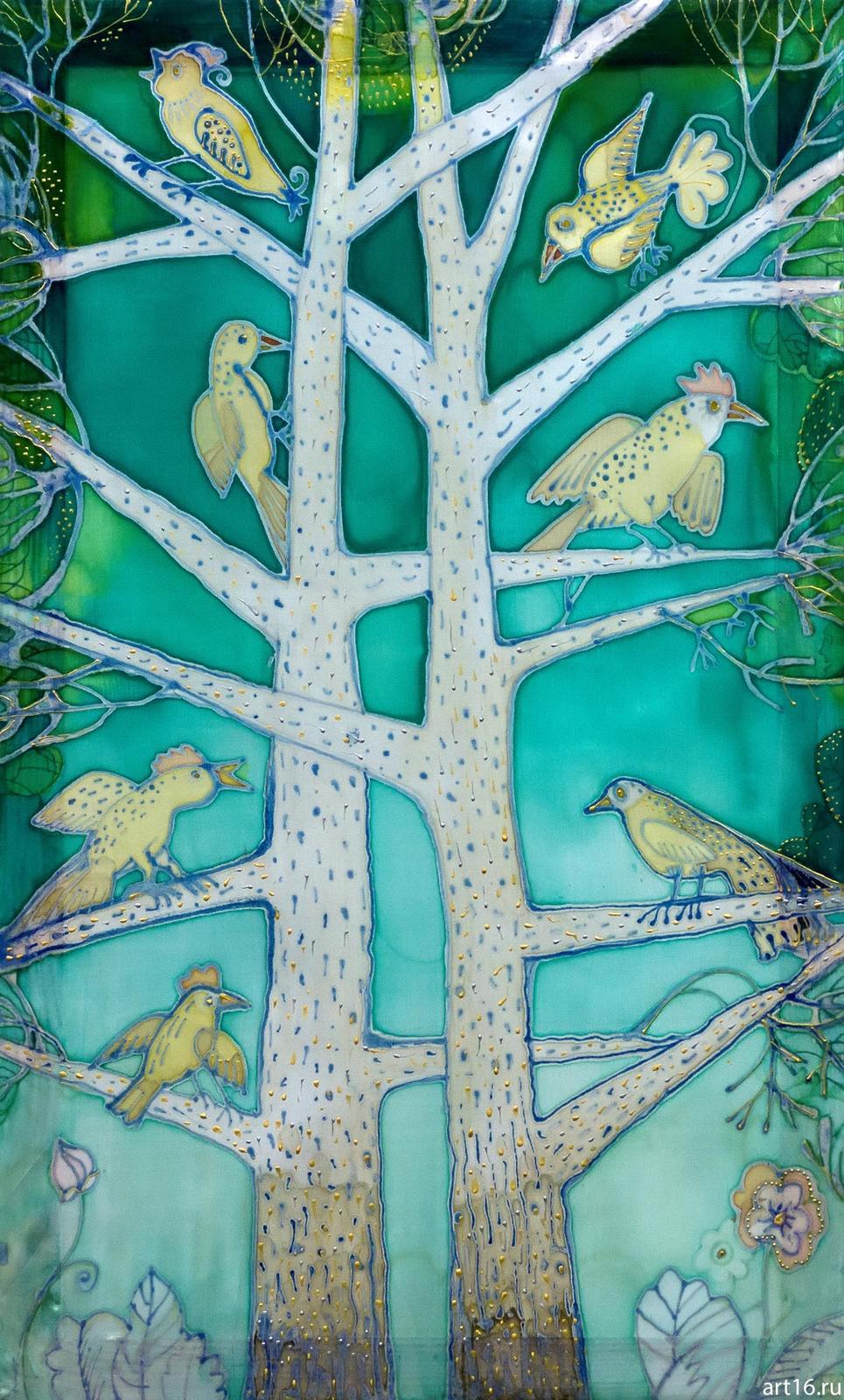Фото №894862. Батик «Два дерева». Нина Кузьминых, 1956
