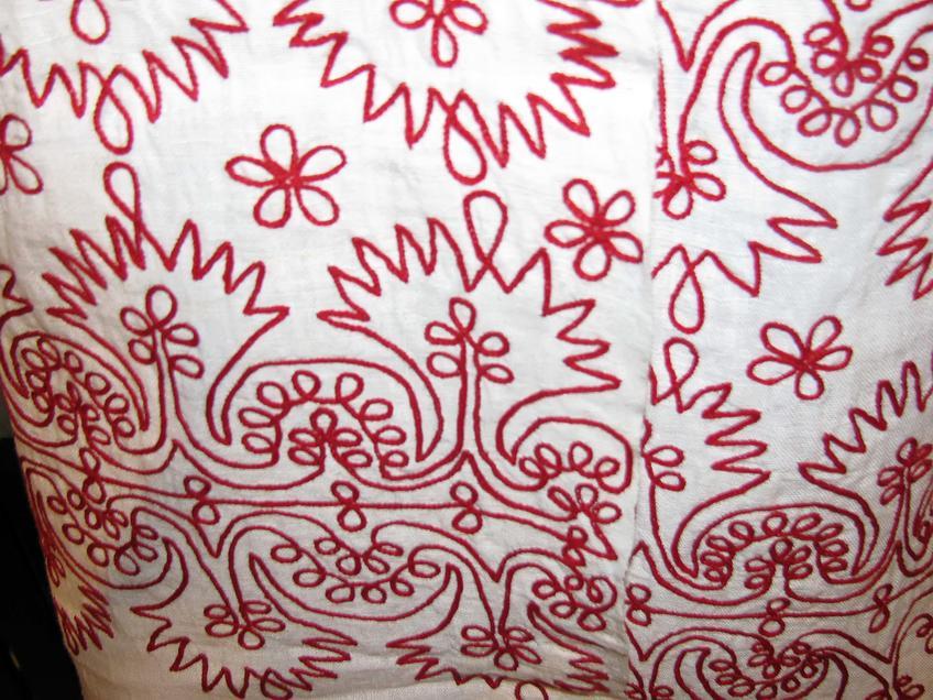 Фрагмент вышивки::Казанское полотенце