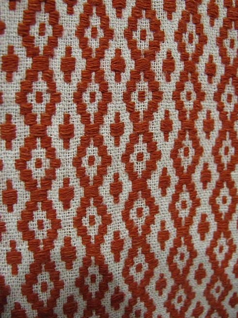 Ручное ткачество. Фрагмент узора::Казанское полотенце