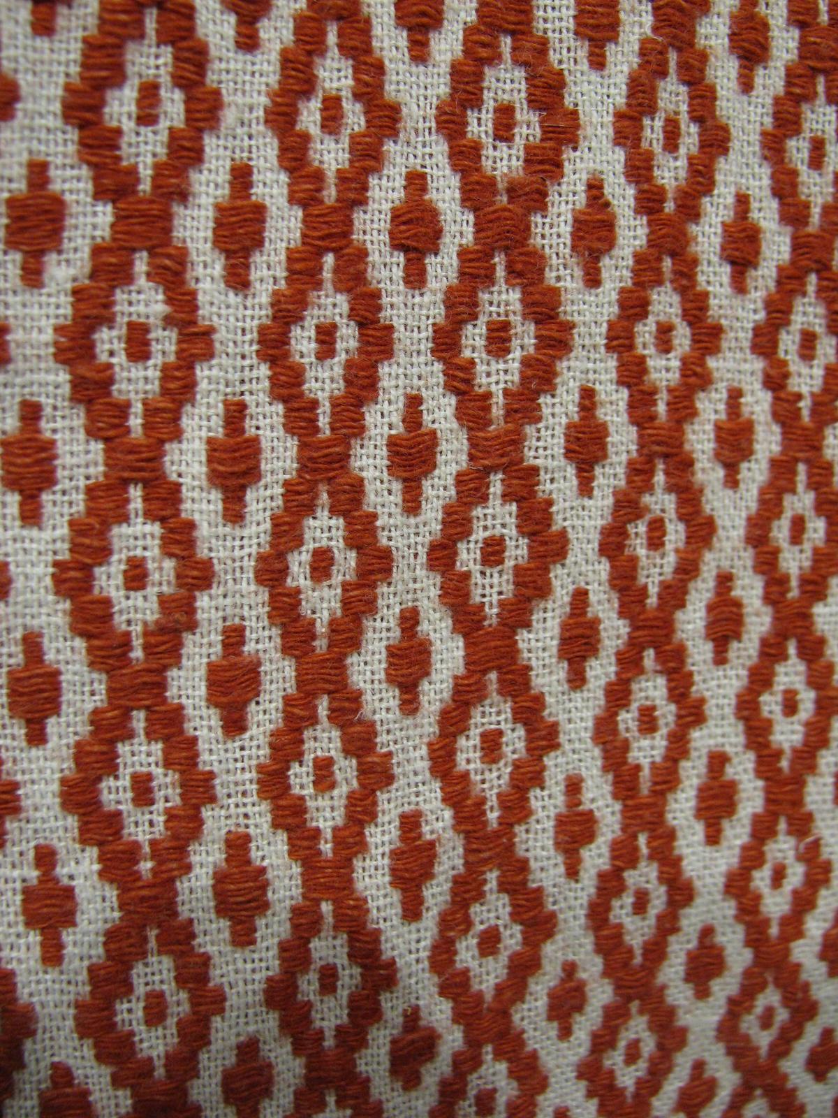 Фото №38123. Ручное ткачество. Фрагмент узора