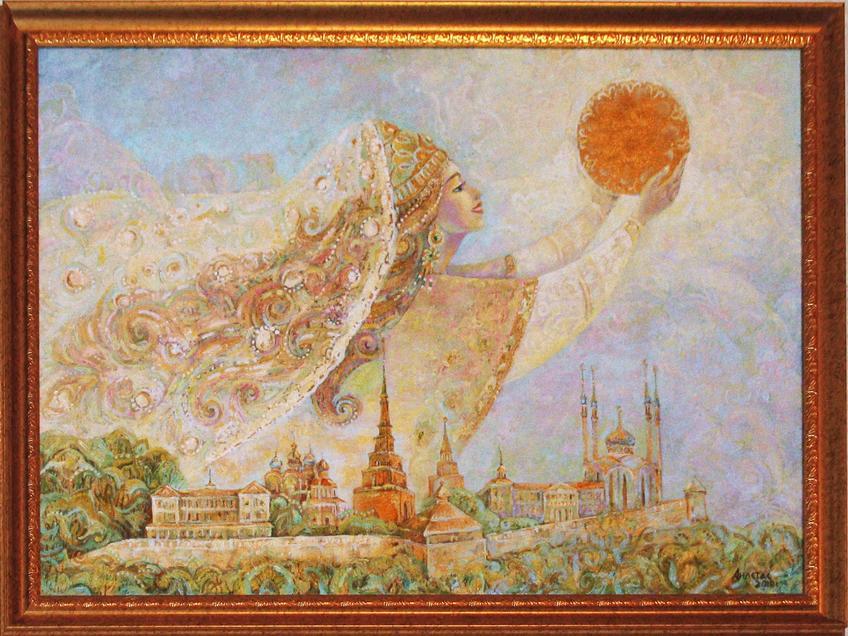 Фото №58735. Рассвет над Казанью. Анастасия Бузунеева