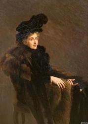 Николай Васильевич Розанов (1868/1872 - 1940). Портрет неизвестной