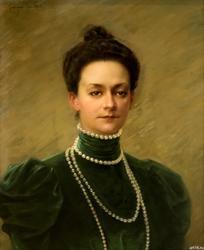 ЖОРЖ БЕККЕР (1845-1909). Портрет Неизвестной
