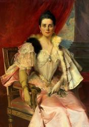 ФРАНСУА ФЛАМЕНГ (1856-1923). Портрет княгини Зинаиды Николаевны Юсуповой. 1894 г.