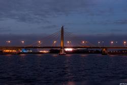 Мост Миллениум, Казань, сумерки