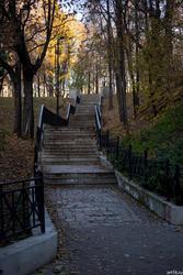 Сад Эрмитаж осенью