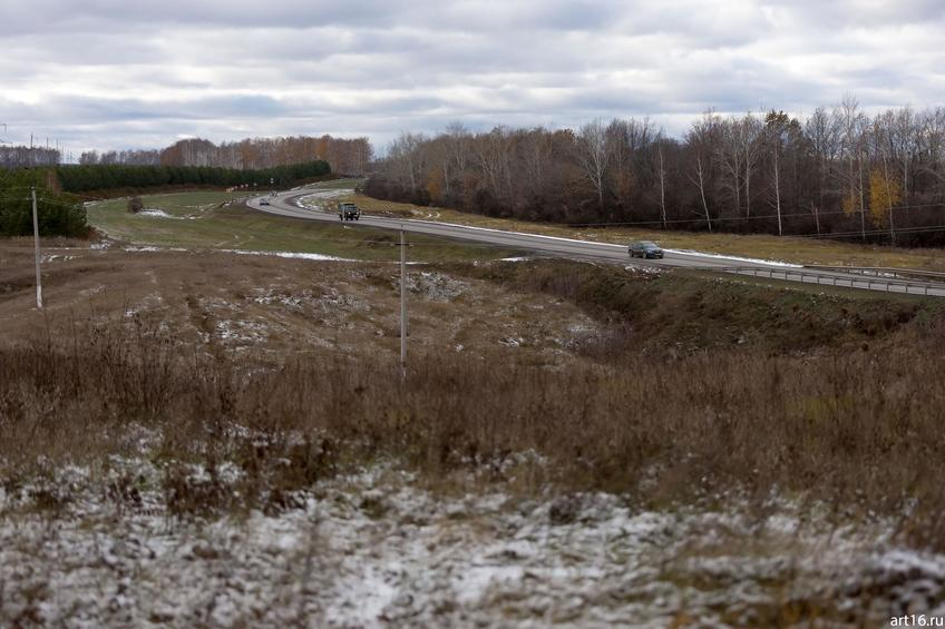 Дорога в Арск. Первый снег::Зарисовки. Природа