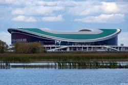 Казань Арена вид с левого берега Казанки, октябрь 2016