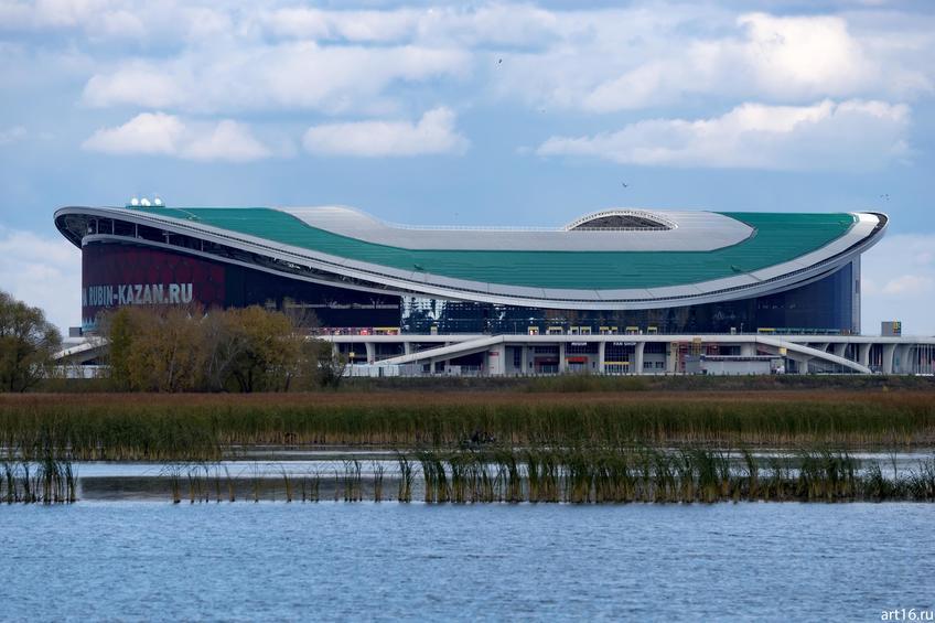 Казань Арена вид с левого берега Казанки, октябрь 2016::Казань, осень, природа